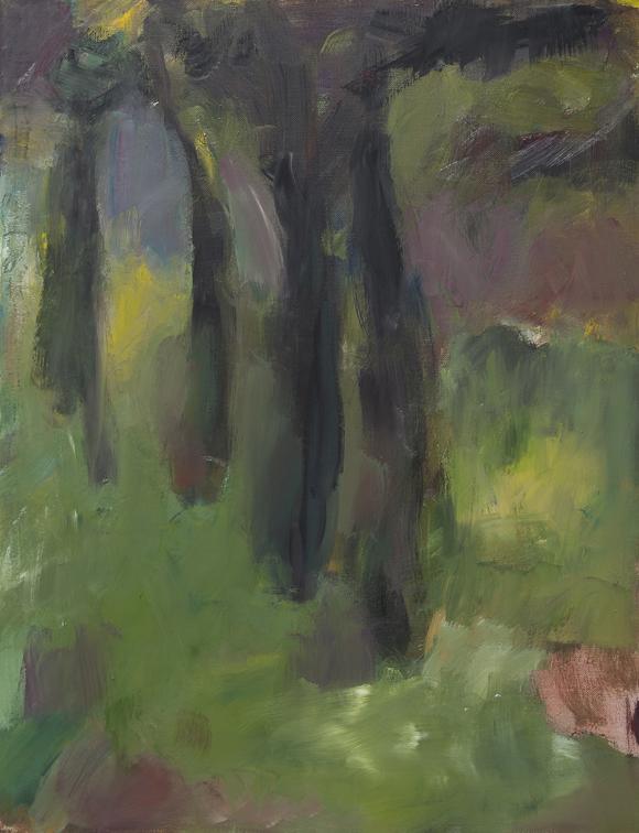 Öl Gemälde, Allee, 2016, 65/50 cm,Öl/ Leinen